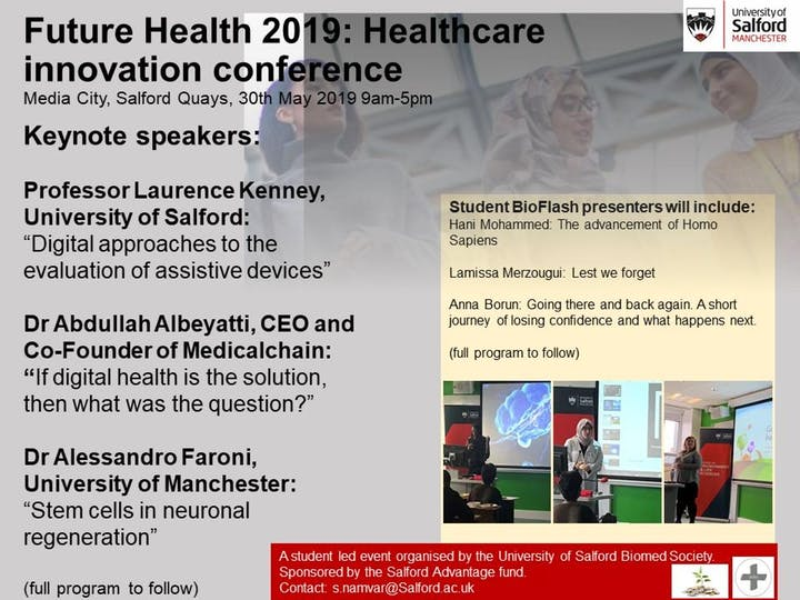 Healthcare innovation conference and BioFlash talks